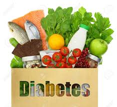 paper bag the word diabetes filled healthy foods stock paper bag the word diabetes filled healthy foods stock photo 32266143
