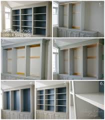 diy office shelves. DIY Built-in Office Cabinet Upper Shelves | Classy Glam Living Diy