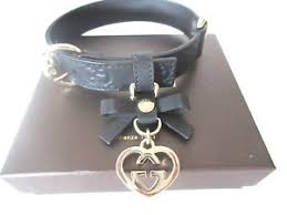 gucci dog collar. image is loading authentic-gucci-dog-collar-gg-embossed-leather-logo- gucci dog collar