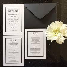 Black And White Invitation Paper Black And White Wedding Invitations