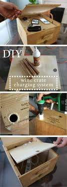 Want to Organize and Hide Your Electronics? Create a Charging System Out of a Wine Crate Home