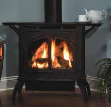 heritage direct vent cast iron stove with ceramic burner and remote option shelf optional