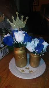 Prince Baby Shower Party Package In Royal Blue And GoldPrince Themed Baby Shower Centerpieces