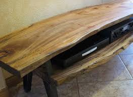 live edge tv stand. Modren Stand Rustic Live Edge TV Stand  Flickr  Photo Sharing And Tv C