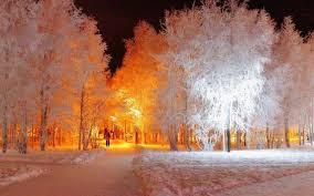 Snow Light Walking Into The Golden Snow Light Wallpaper 39567