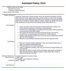 43 Pastry Chef Resume Samples Www Freewareupdater Com