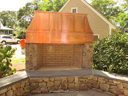 custom outdoor fireplace copper chimney cap