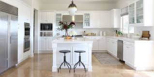 White Kitchen Cabinets  Elle Decor