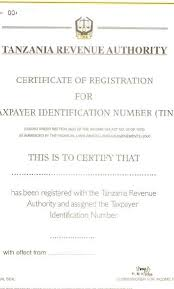 certification of identification form form 186 tanzania investment centre
