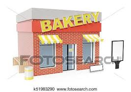 Bakery Store With Copy Space Board Isolated On White Background