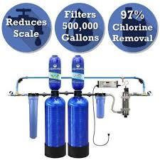 rhino series 6 stage 500 000 gal well water filtration system with simply soft salt