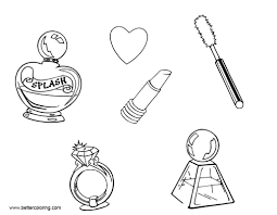 Makeup Coloring Pages With Heart Free Printable Coloring Pages