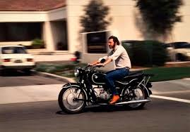 steve jobs on his 1966 bmw r60 2 motorcycle 1981 photo by charles