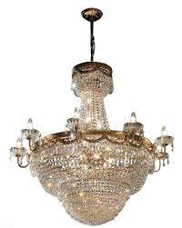 Casa Padrino Baroque Crystal Chandelier Gold ø 80 X H 81 Cm