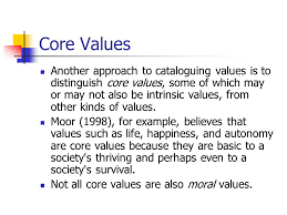 ethics and morality ethos greek and mores latin are terms  core values