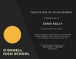 Printable Achievement Certificates Customize 101 Achievement Certificate Templates Online Canva