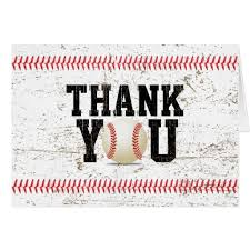 Baseball Stitching Sports Baby Shower Thank You Baby Shower Thank