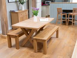 Cross Leg Table And Bench Set - A Great Looking Dining Set ...