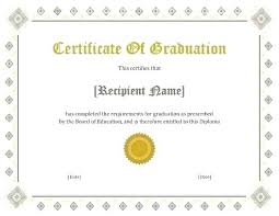 School Certificates Template Free Printable High School Diploma Template Huge Collection