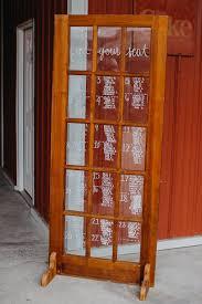 Rustic Window Pane Glass Door Wedding Seating Chart Tampa