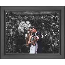 32x20 Frame 32x20 Modern Black Wood Picture Frame With Acrylic Front And Foam Board Backing Modern Black Solid Wood