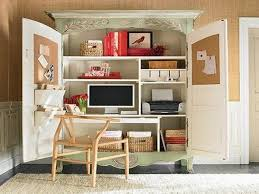 office and storage space. White Computer Armoire Small Space Desk Functional Home Office Ideas Storage And