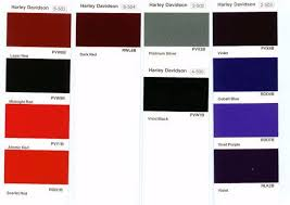 Bike Paint Colour Chart Harley Davidson Paint Color Codes Paint Color Codes Paint