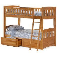 night day cinnamon twin over twin bunk bed