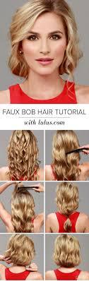 Lulus How To Faux Bob Hair Tutorial Luluscom Fashion Blog