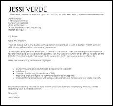 Sample Buyer Cover Letter Buyer Cover Letter Sample Cover Letter Templates Examples