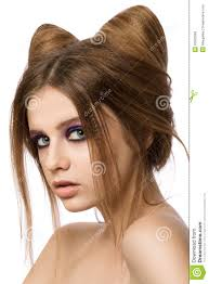 Pretty Girl Hair Style young pretty girl with cute cat ears hairstyle stock photo image 3452 by wearticles.com