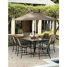 amazing garden oasis patio furniture of garden oasis harrison 7 piece sling high dining set