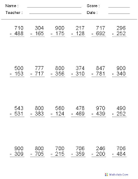 Subtraction With Zeros Worksheets Free Worksheets Library ...