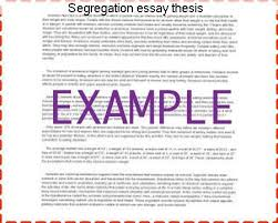 segregation essay thesis essay help segregation essay thesis racism thesis statement examples racism is the belief that one race or