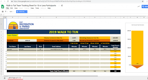 Walking Tracker Spreadsheet Nwt Recreation And Parks Association Track Your Teams Progress