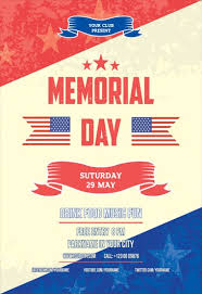 Free Memorial Day Flyer Templates Magdalene Project Org
