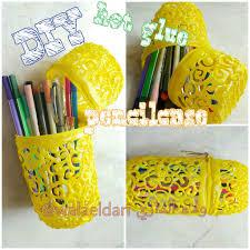 hot glue pencil case