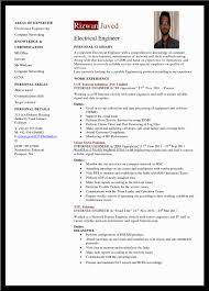 Resume Electrical Engineer Resume Sample