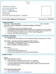 Resume Format For Mba Finance Experienced Web Image Gallery Resume