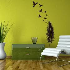 creative black feather wall stickers home decor wallpaper poster