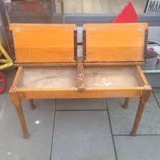 vintage double school desk