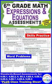 6th grade expressions and equations 6 ee common core what is included
