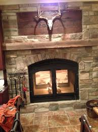 double sided electric fireplace insert home design ideas wood burning flush mount height potbelly stove wall