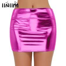 hot pink leather mini skirt