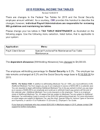 2015 Federal Income Tax Tables Civica Cmi Pages 1 6