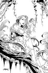 Poison Ivy Inked By Sereglaure On Deviantart Coloriages Zen Anti