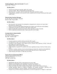 Sample Resume Admin Admin Assistant Job Description Template