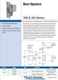 edwards 596 transformer wiring diagram edwards edwards 180 af 181 af series mortise type electric door openers on edwards 596 transformer wiring