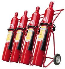 Kết quả hình ảnh cho Bình chữa cháy loại xe đẩy như: bình chữa cháy bằng Foam, nước, CO2, bột,...