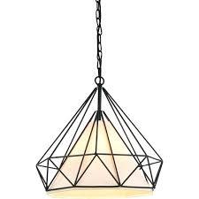 diamond wire cage pendant light
